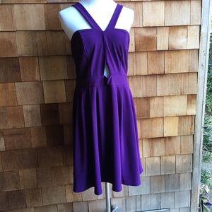 Forever 21 +Sleeveless Purple Dress Zip close ,FAB